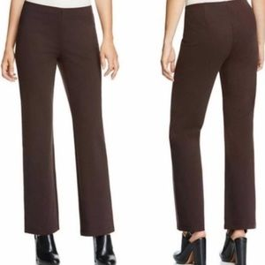 Eileen Fisher Brown Ponte Pull On Pants